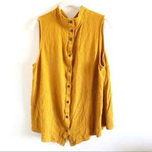 Maeve Sleeveless Button Down Blouse Size 20